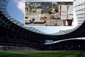 Tottenham transform £1bn stadium into food storage space to help feed most vulnerable during coronavirus pandemic