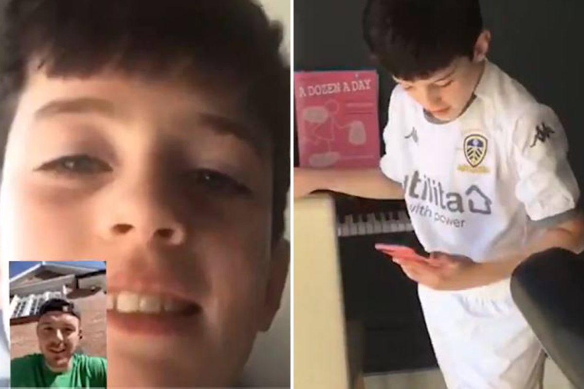 Touching moment Jack Butland FaceTimes 11-year-old kid who went viral for practising his goalkeeping in back garden