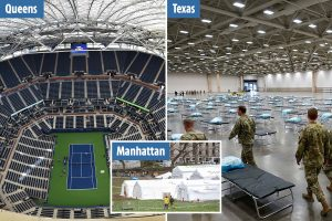 US Open stadium to be used as makeshift hospital as part of plan to build 341 field sites to fight coronavirus