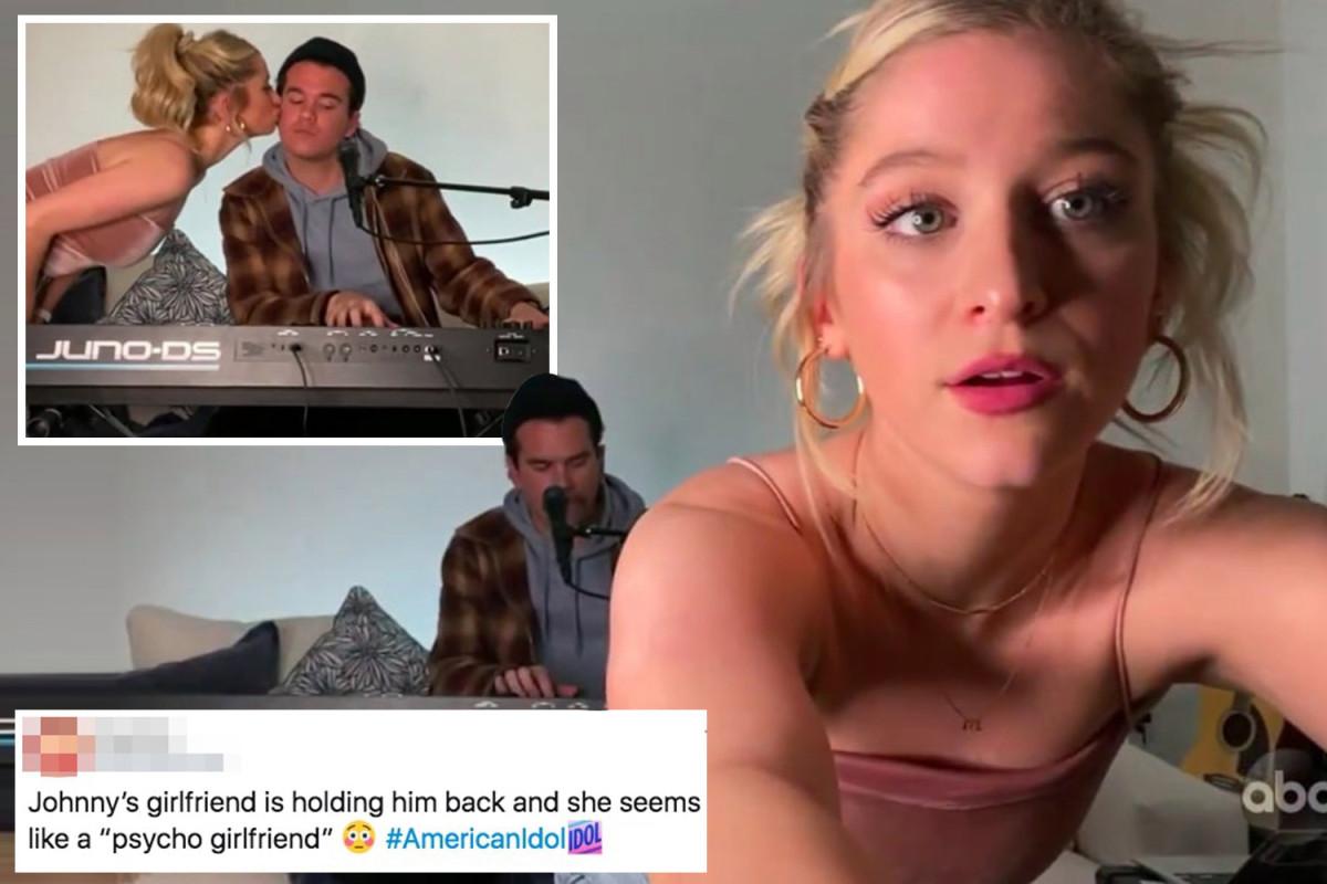 American Idol fans furious over 'psycho girlfriend' Margie Mays' return to show as boyfriend Jonny West performed
