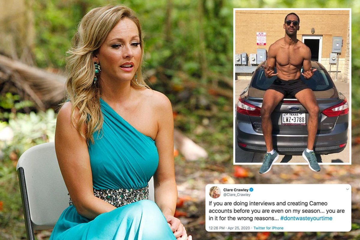 Bachelorette Clare Crawley slams Matt James for appearing on her season for 'the wrong reasons' as he makes Cameo page
