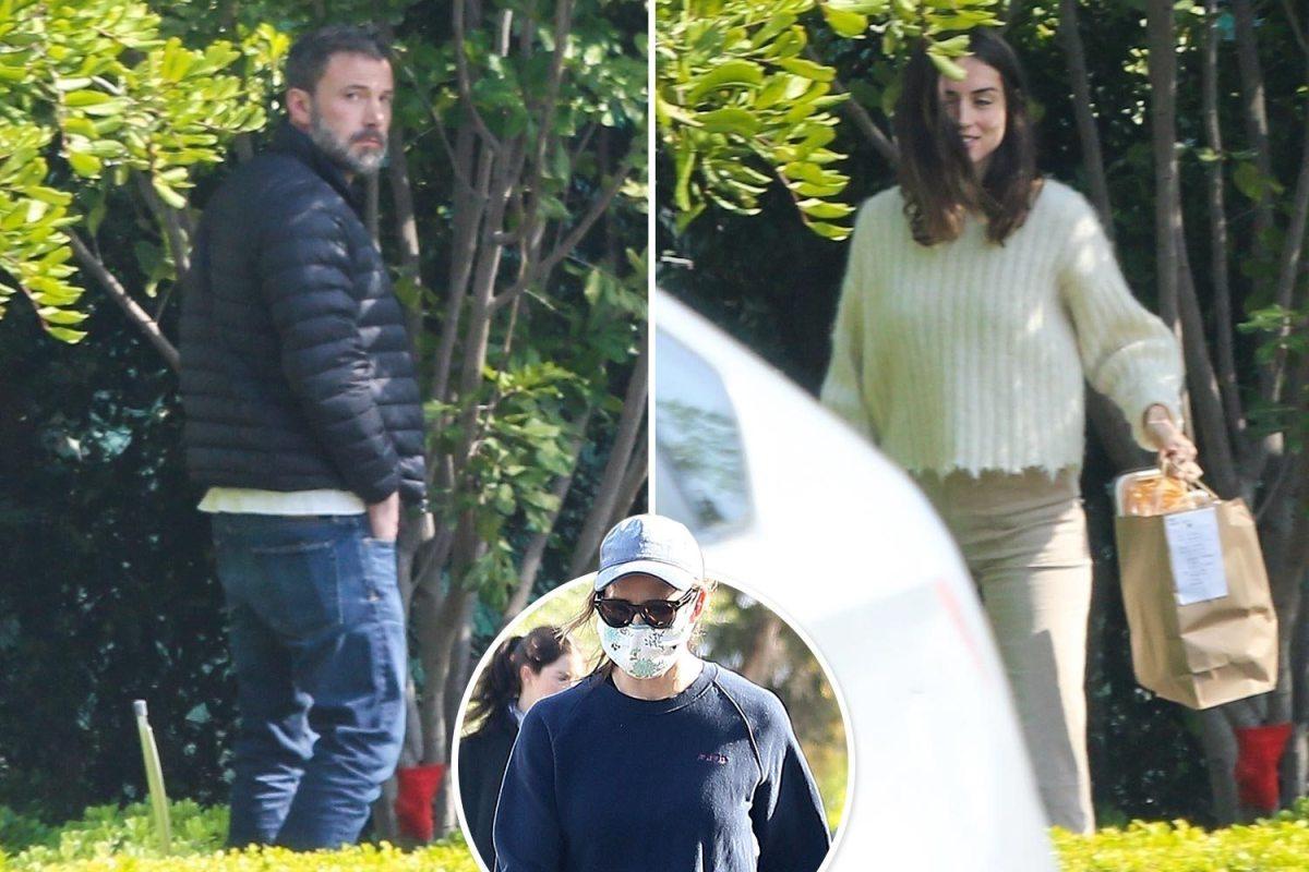 Ben Affleck and Ana de Armas get food delivered before he visits ex-Jennifer Garner solo as she isolate with kids