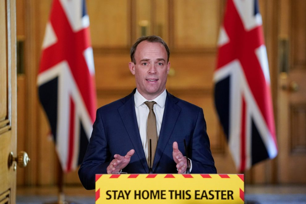 Coronavirus UK LIVE: Dominic Raab says in daily update that lockdown is working but measures won't be relaxed this week