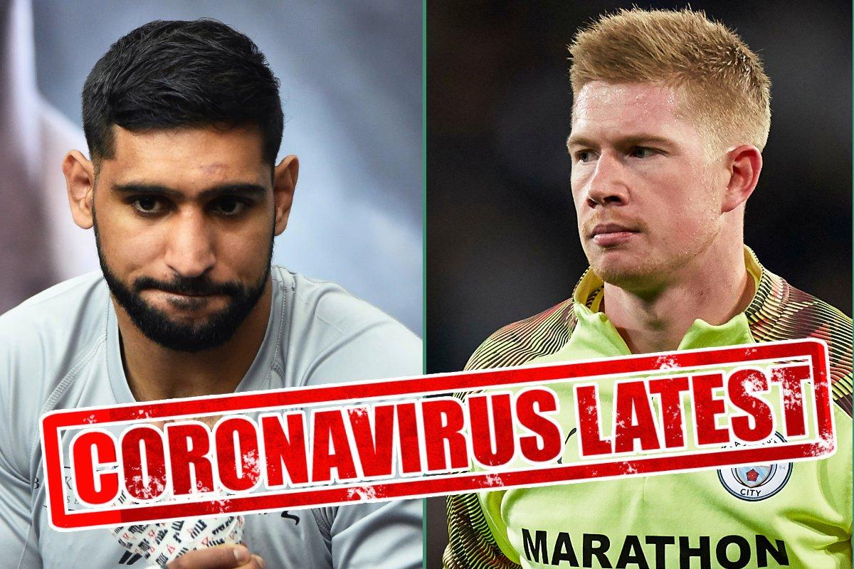 Coronavirus in sport LIVE: Premier League 30 per cent wage dispute, Khan blames 5G towers, UFC 249 on, AJ new fight date