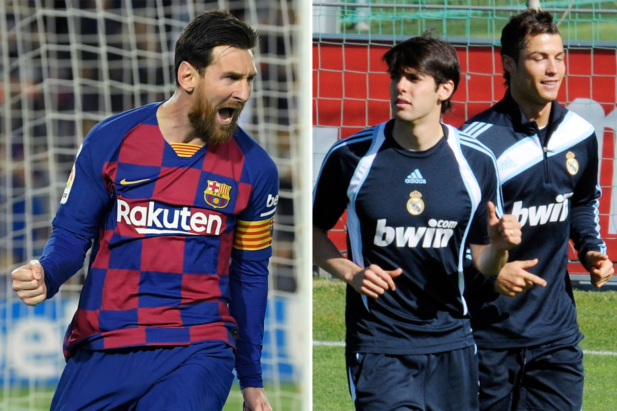 Cristiano Ronaldo snubbed by ex-Real Madrid team-mate Kaka as he picks 'genius' Lionel Messi as best-ever player