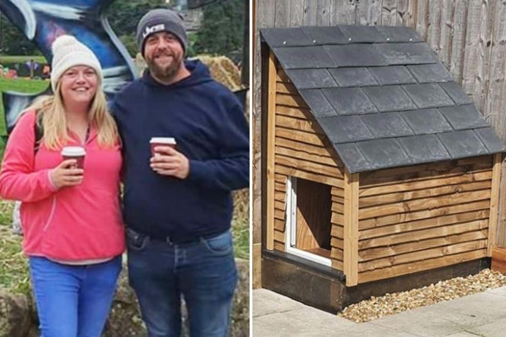 Dad builds amazing kennel for his dog during lockdown – and it didn't cost him a penny