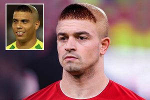 Liverpool star Xherdan Shaqiri reveals he copied Ronaldo's infamous 2002 'triangle' haircut in tribute to his 'big idol'