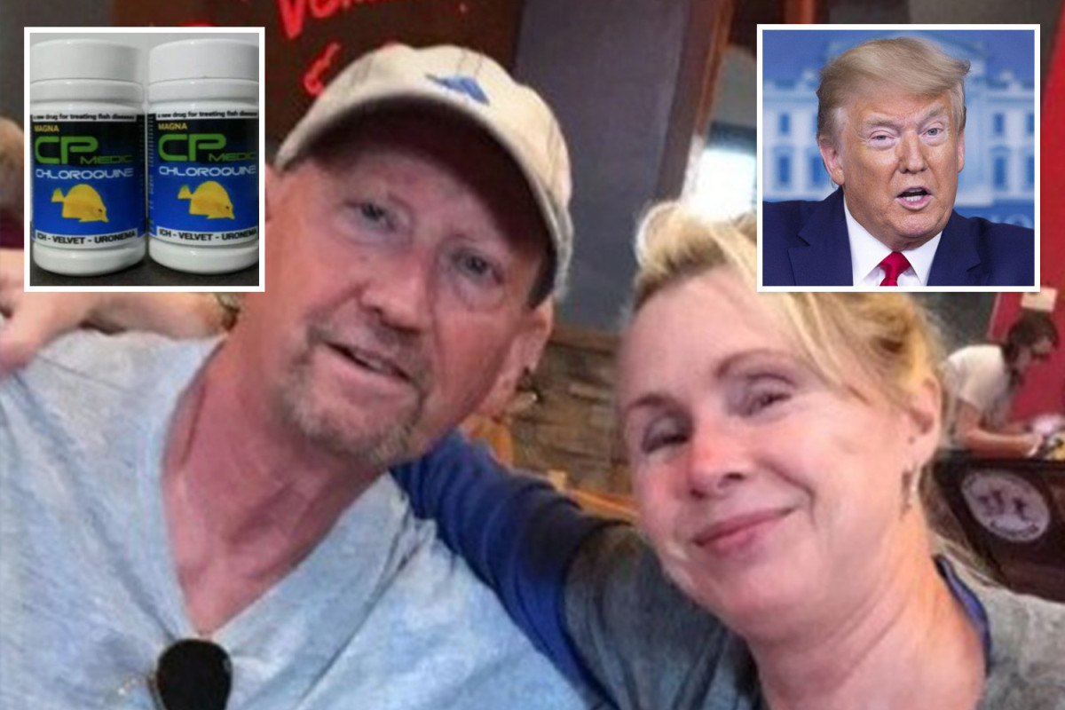 Murder probe launched into wife who blamed Trump for husband's fish tank cleaner 'coronavirus cure' death