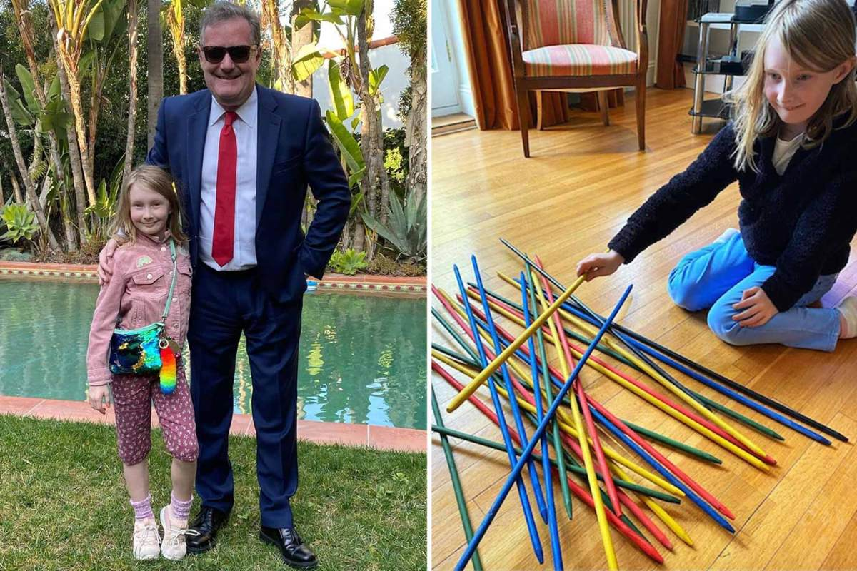 Piers Morgan shares rare snap of daughter Elise as they play spillikin in coronavirus isolation