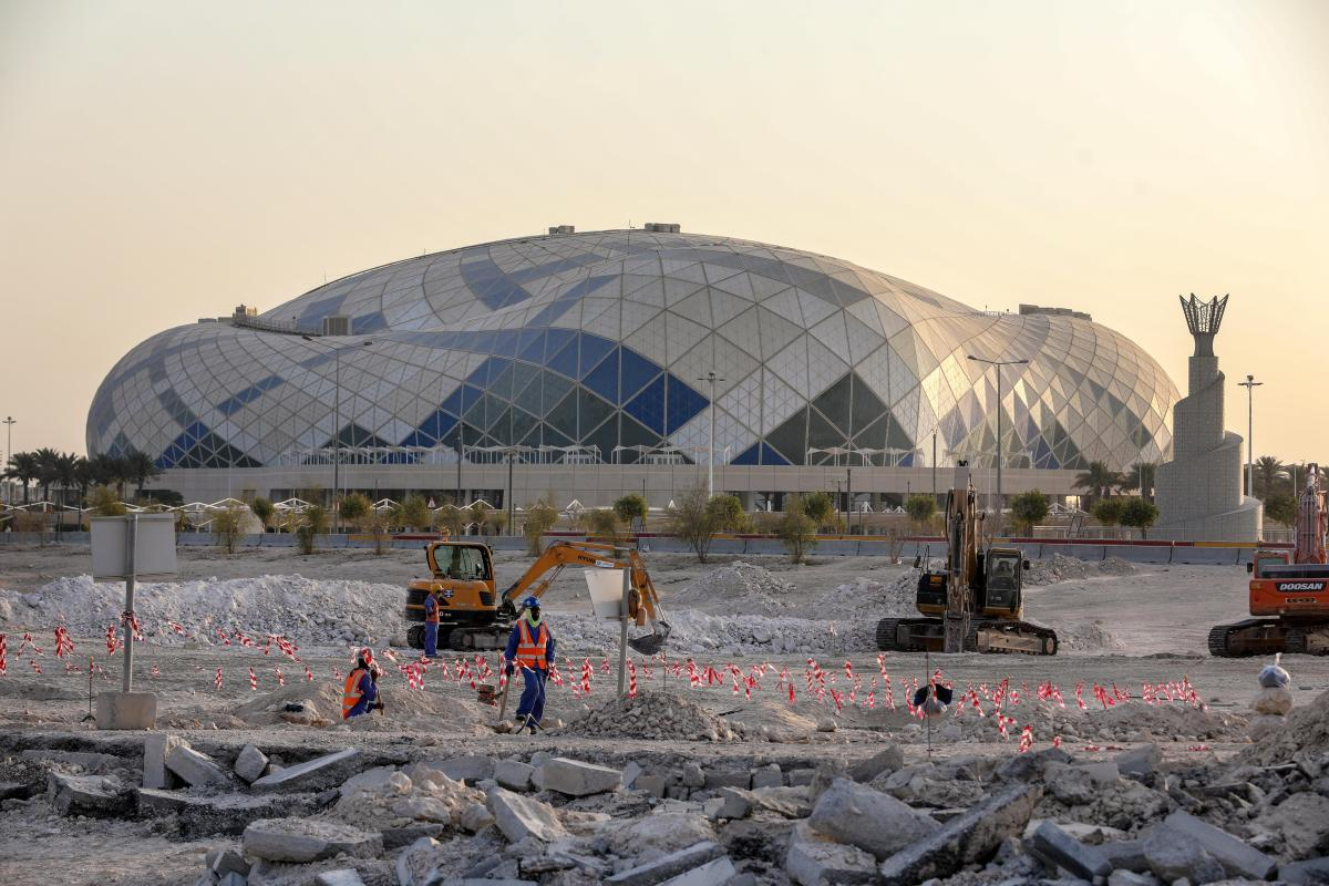 Qatar World Cup shame: Builders are paid just 82p an hour in the oil-rich state that's accused of slave labour