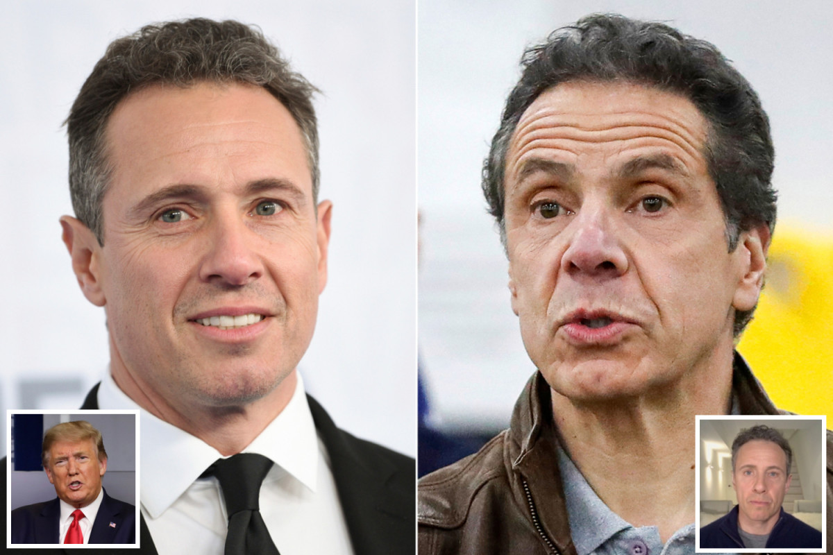 Trump frequently asks NY Gov Andrew Cuomo for health updates on his coronavirus-stricken brother and CNN host Chris