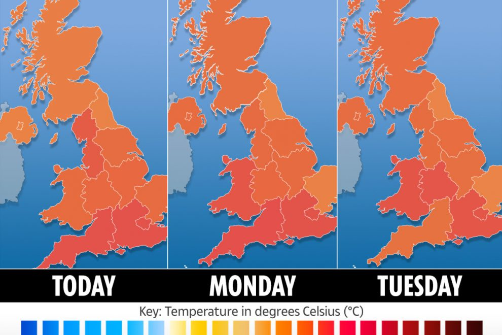 UK weather forecast: Brits to bask in 18C sunshine as Met Office predicts bright finish to the weekend
