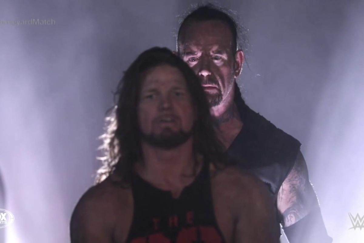 WWE WrestleMania 36 LIVE RESULTS: Night 1 reaction as The Undertaker DOWNS AJ Styles in crazy Boneyard match, Goldberg