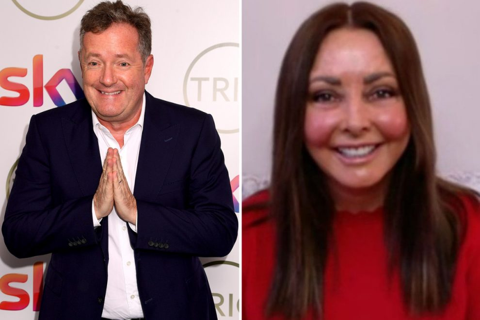 What did Piers Morgan say about Carol Vorderman's outfit?