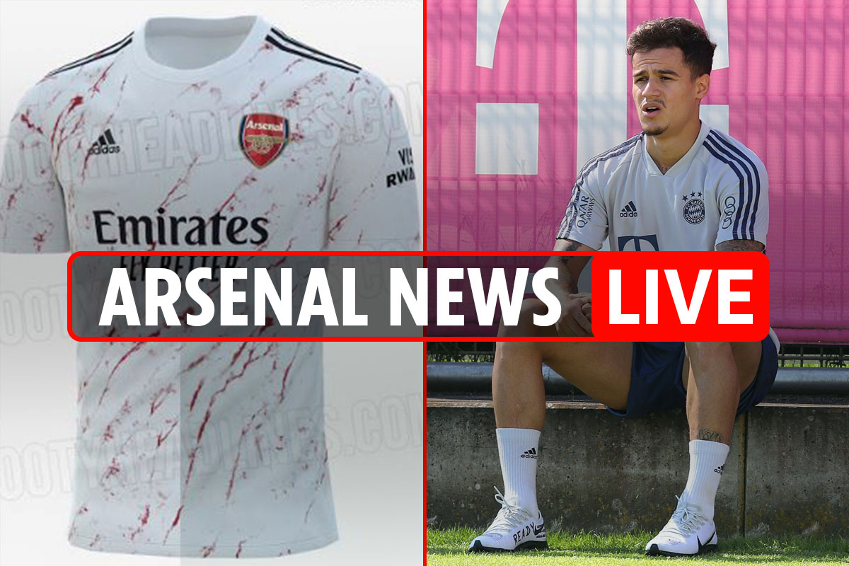 6.15pm Arsenal news LIVE: Away kit LEAKED, Coutinho would be an 'integral player', Man City on June 17, Luiz future