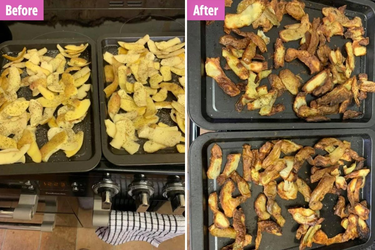 Genius dad reveals how to make homemade chips using old potato peelings – and his kids love them