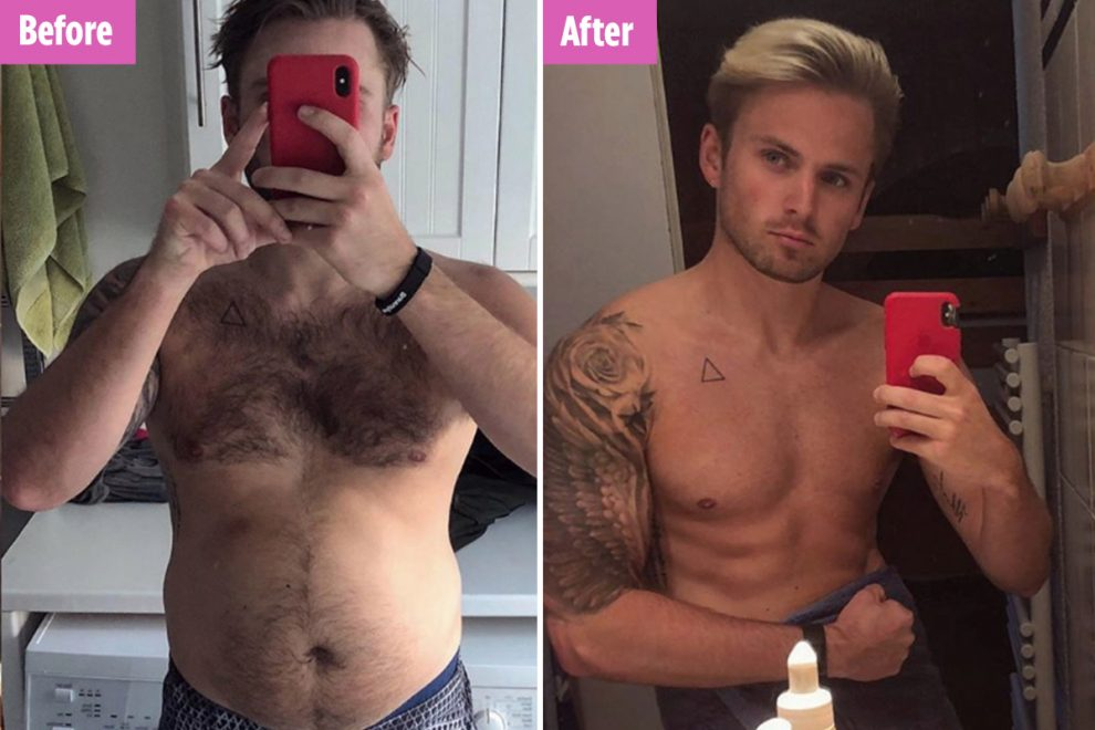 Love Island's Charlie Brake shows off six pack after huge weight loss in before and after snaps