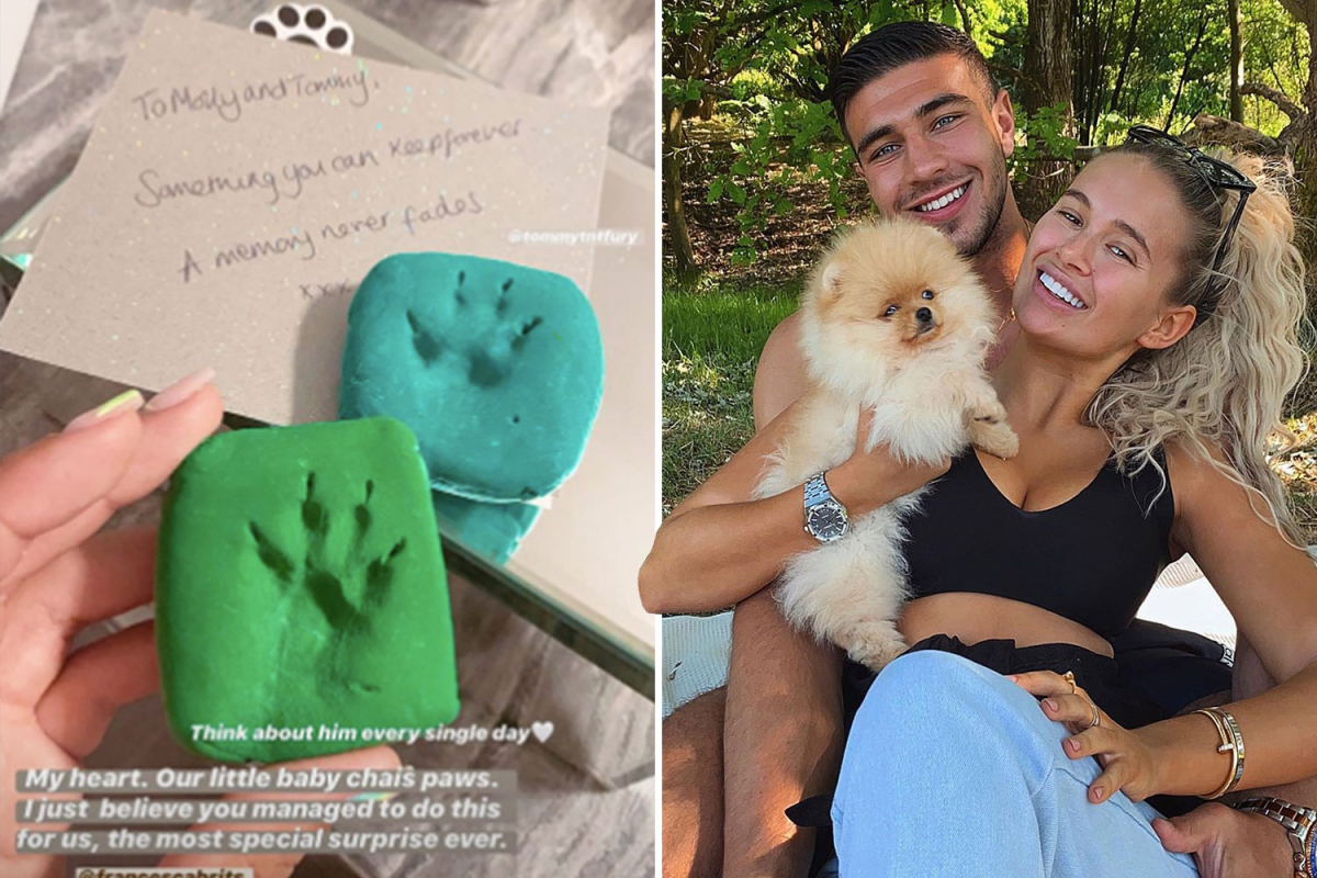 Emotional Molly-Mae Hague remembers late puppy with special pawprint gift and says she thinks of him 'every day'