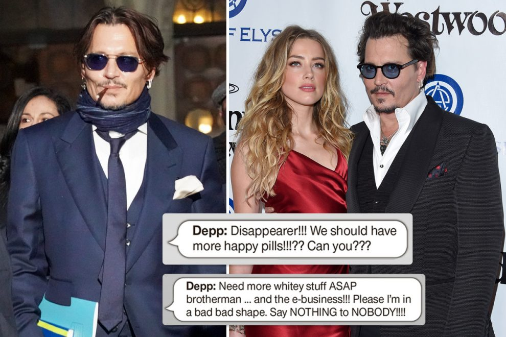 Johnny Depp 'ordered personal assistant to buy him cocaine and ecstasy in series of texts', court hears
