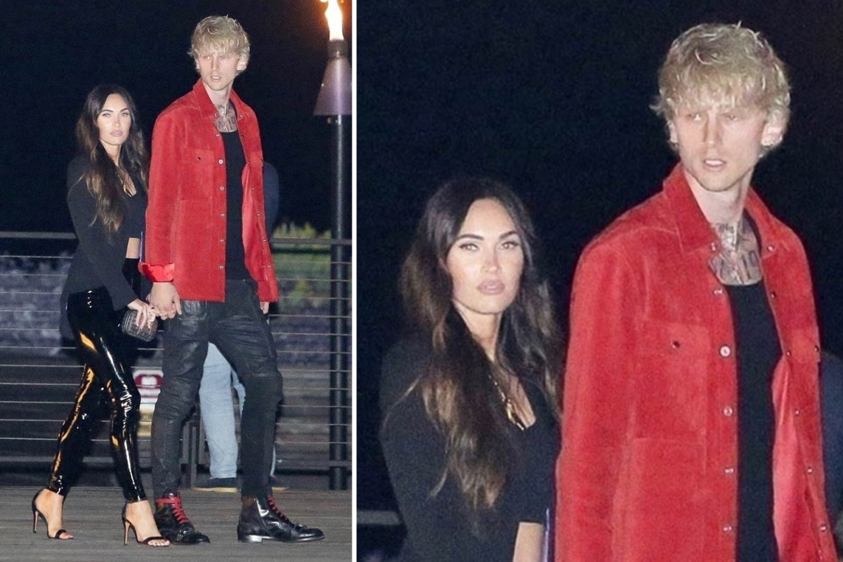 Megan Fox stuns in tight leather pants as she holds hands with boyfriend Machine Gun Kelly during Malibu date night