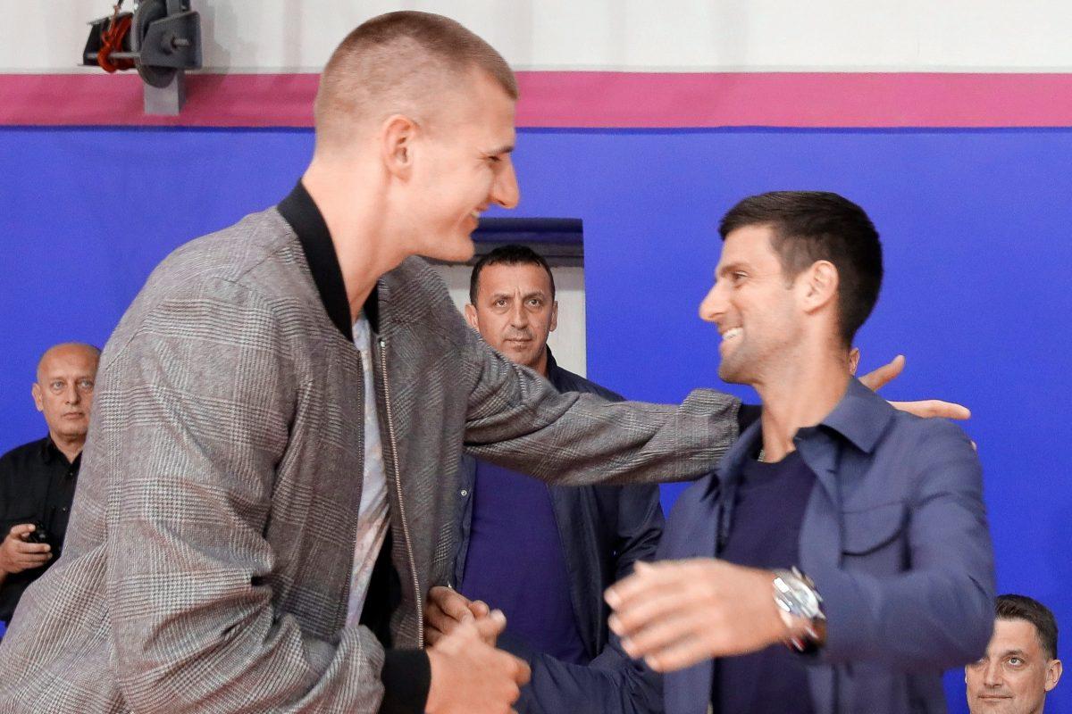 NBA star Nikola Jokic tests positive for coronavirus… days after embracing Novak Djokovic at basketball match