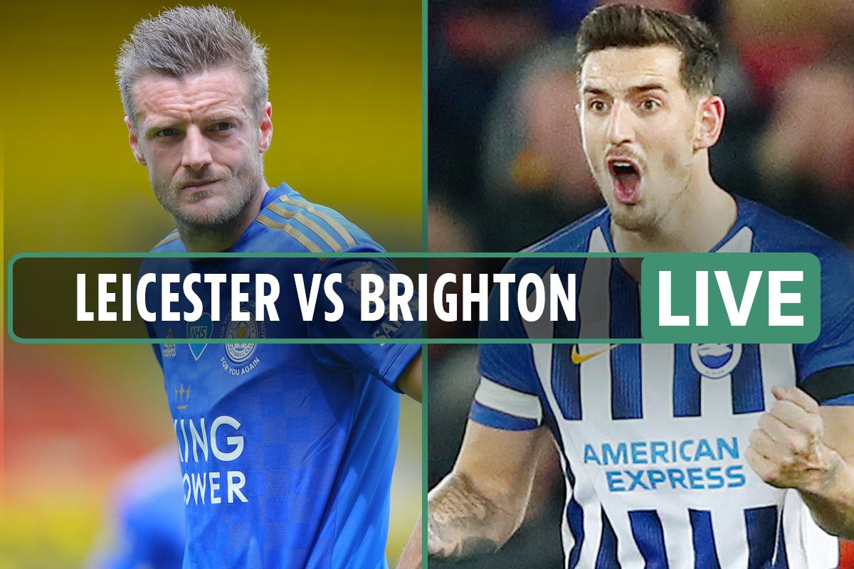 Premier League – Leicester vs Brighton LIVE: Stream, score, TV channel, team news as Vardy STARTS – latest updates