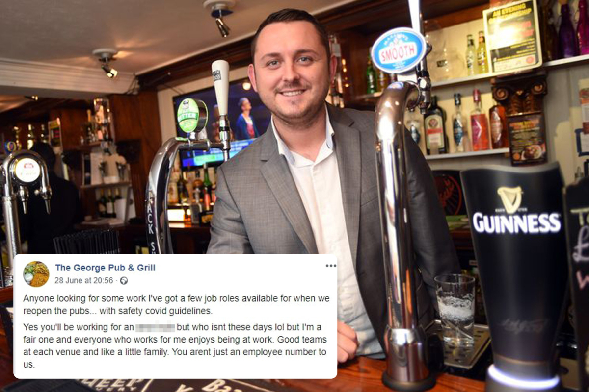 Pub landlord warns 'you'll be working for an a*******' in brutally honest job advert for new staff