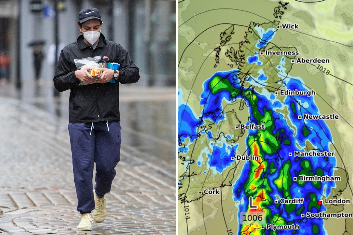 UK weather forecast – Thunderstorms to lash Britain but we'll bake in 25C scorcher next week