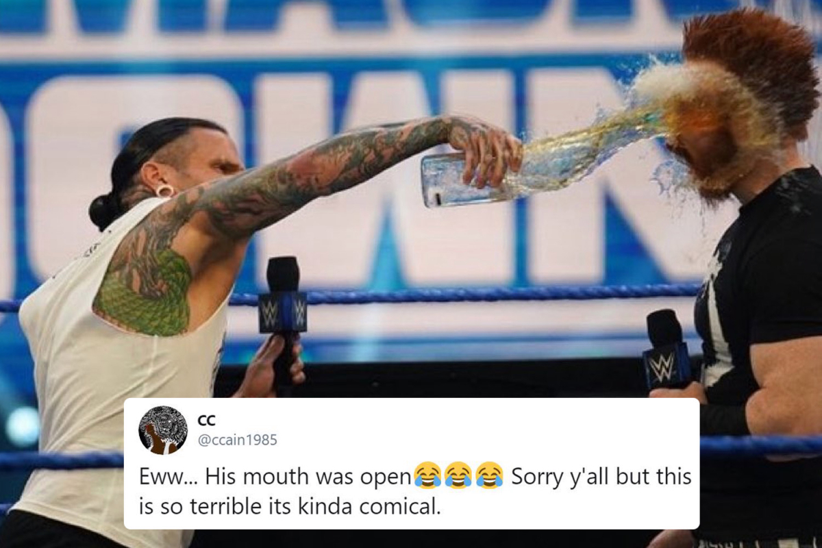 WWE forced to remove Jeff Hardy throwing URINE over Sheamus from SmackDown TV taping 'after complaints from Fox'