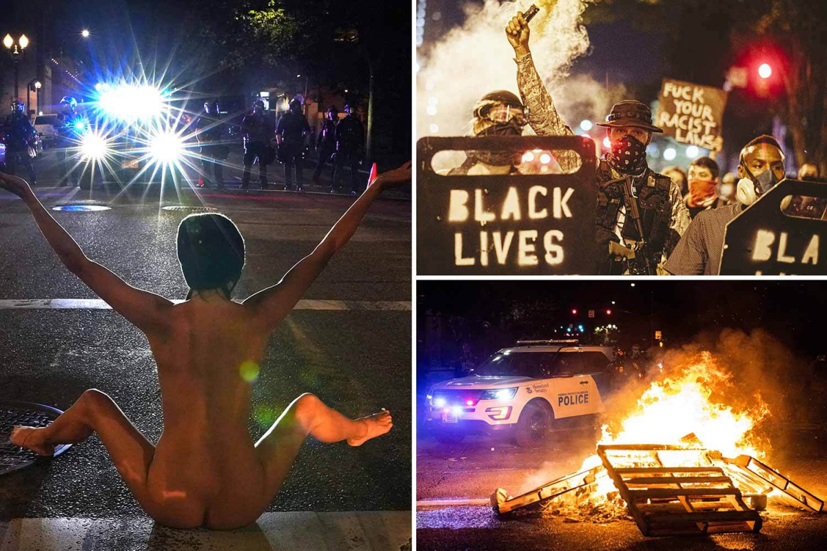 'Naked Athena' who shocked Portland during Black Lives Matter protest says she felt like she was in the 'eye of a storm'