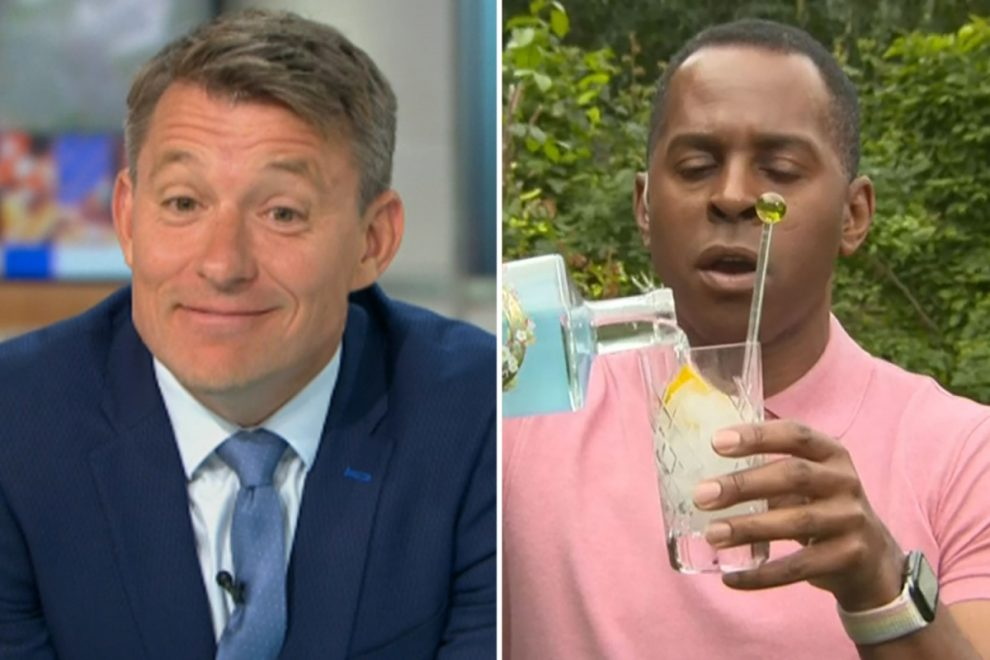 Ben Shephard horrified as Andi Peters invades his huge garden and then drinks his gin in surprise GMB segment