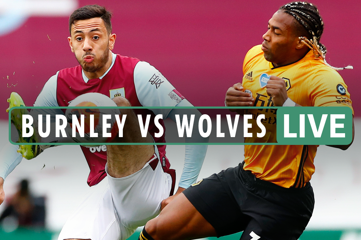 Burnley vs Wolves LIVE: Stream FREE, TV channel, kick-off time, team news for TONIGHT'S Premier League clash