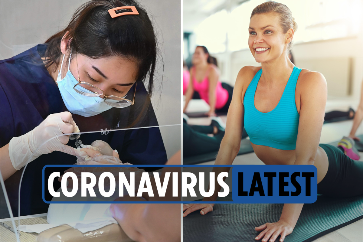 Coronavirus latest news: Gyms and beauty salons to reopen in new lockdown changes as UK deaths hit 44,602