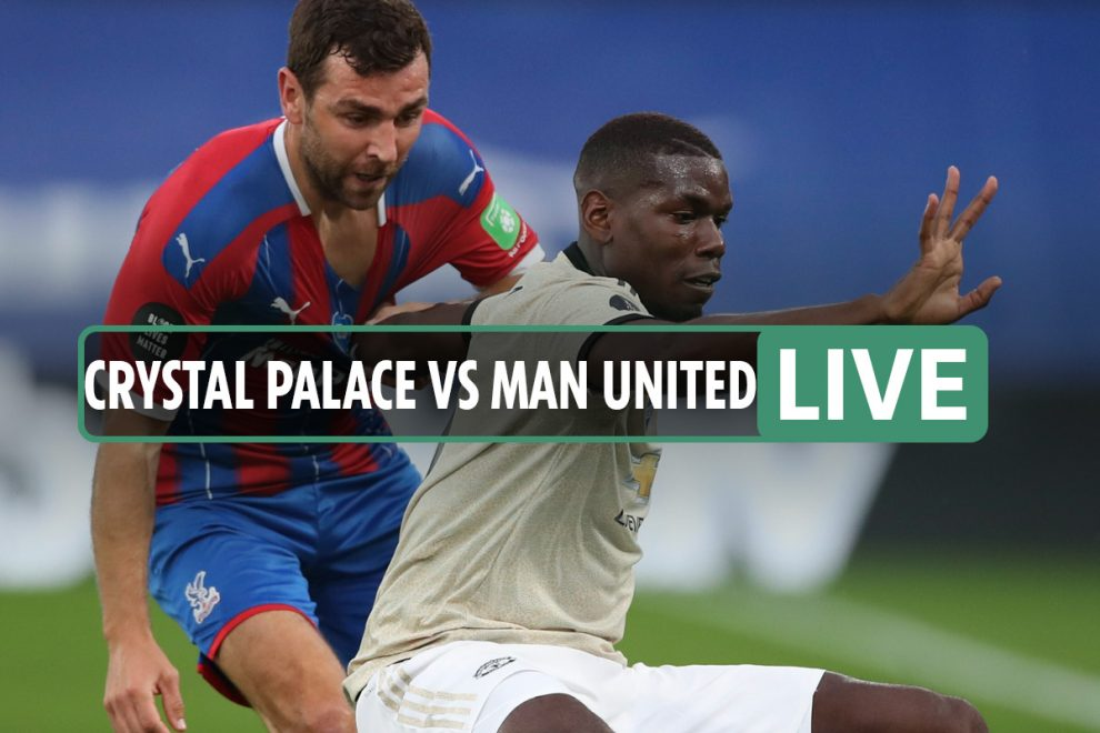 Crystal Palace 0-0 Man Utd LIVE: Stream FREE, TV channel, teams news for TONIGHT'S Premier League clash – latest updates