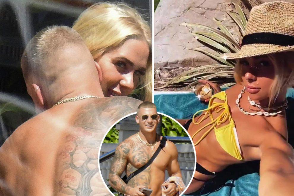 Love Island's Gabby Allen kisses new boyfriend Brandon Myers in Ibiza after ex Marcel announces girlfriend's pregnancy