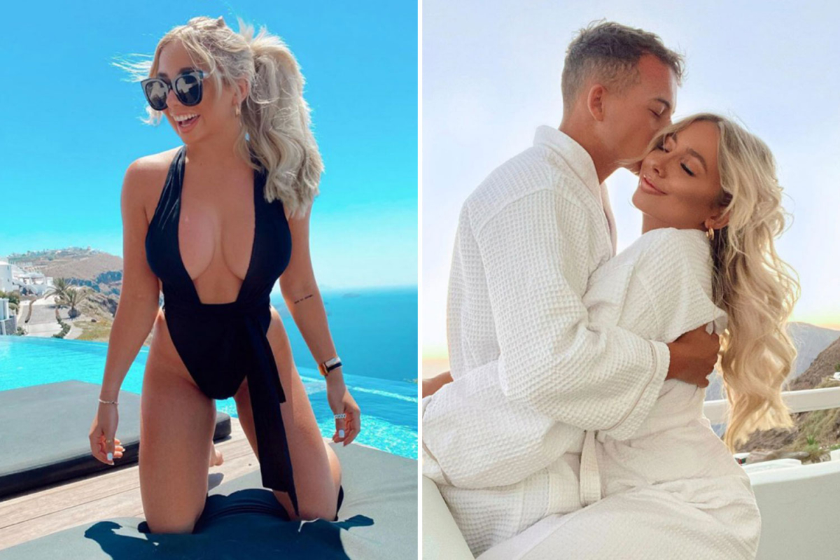 Strictly star Saffron Barker sizzles in a bikini on a romantic holiday with her new man