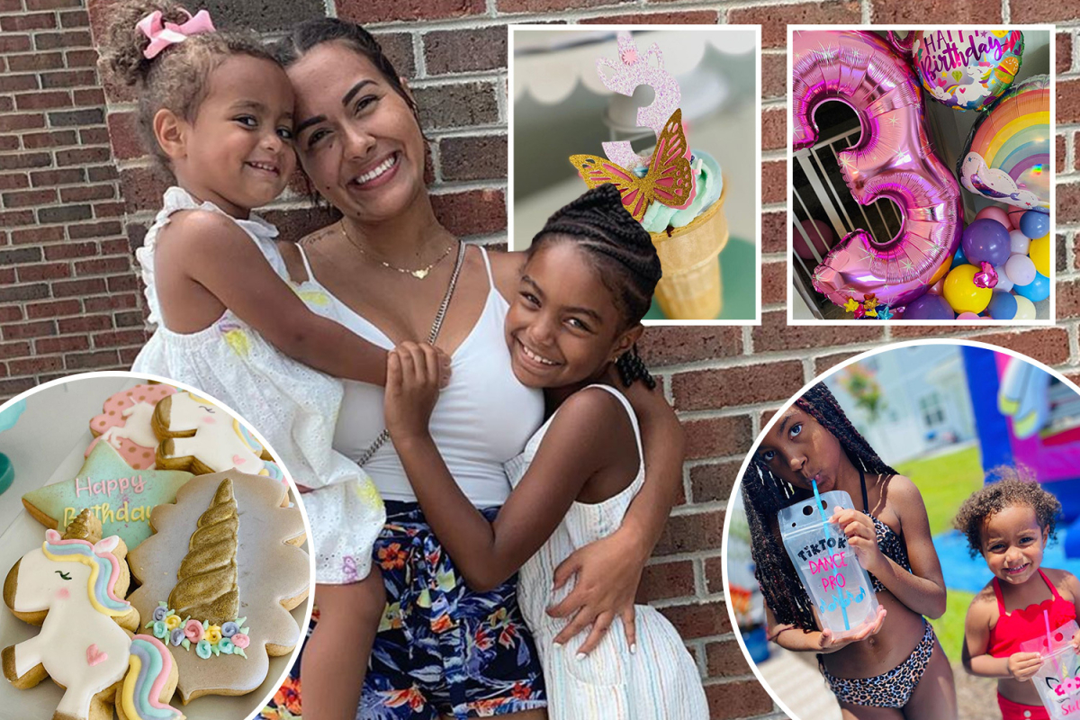 Teen Mom Briana DeJesus celebrates daughter Stella's 3rd birthday with lavish bash featuring cakes, unicorns and bubbles