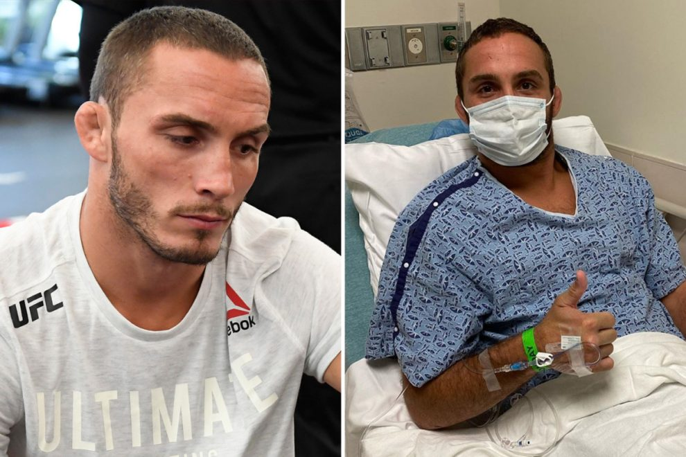 UFC star Anthony Rocco Martin rushed to hospital with knee infection and reveals it was 'worst pain I've ever felt'