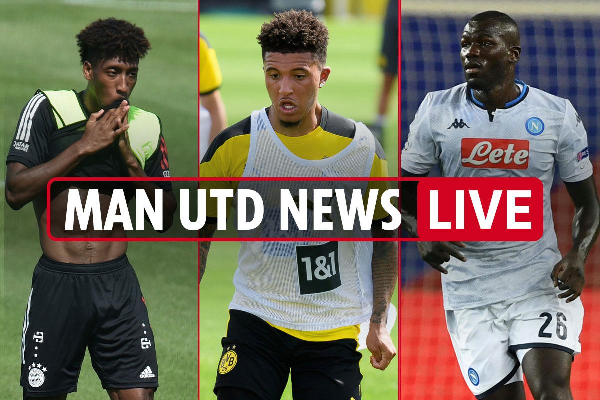 1.15pm Man Utd transfer news LIVE: Jadon Sancho deadline TODAY, Koulibaly cut price £63m deal, Coman loan wanted