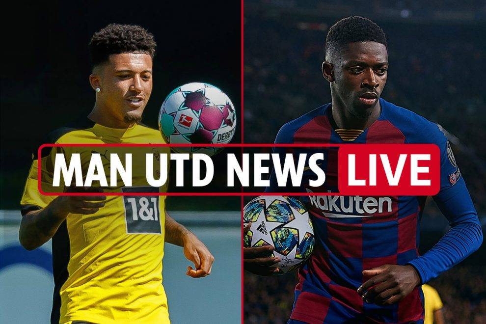 11am Man Utd transfer news LIVE: Jadon Sancho 'offered PAY CUT by United', Ousmane Dembele talks, Pogba LATEST