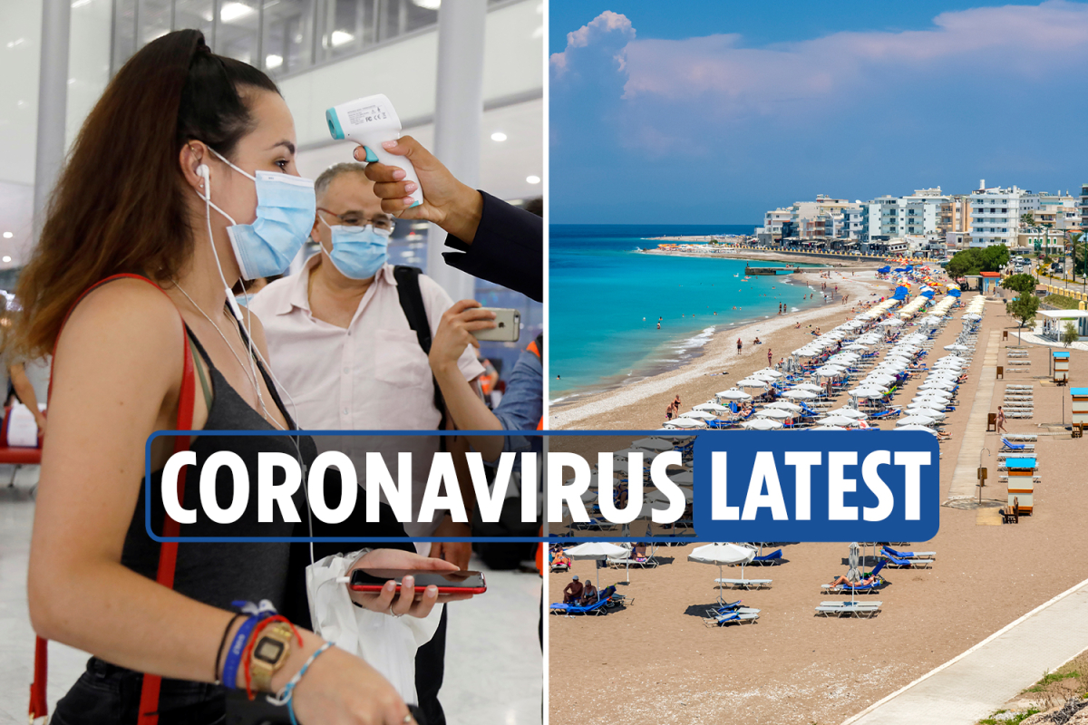 Coronavirus UK LIVE: Greek islands get curfew for restaurants and bars as France bans reusable face masks on flights