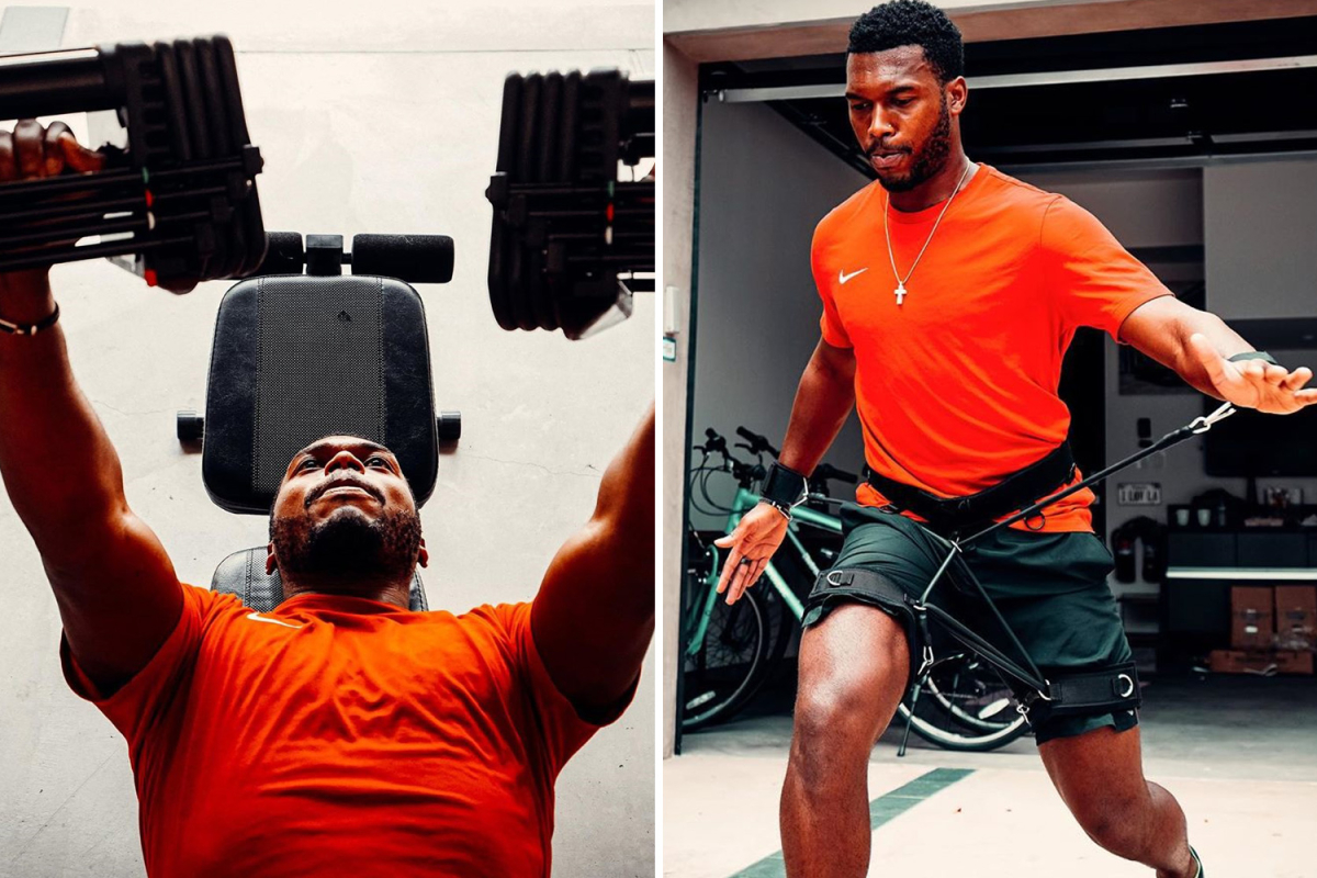 Daniel Sturridge stays fit in gym as free agent looks for next club amid transfer links to five sides including Rangers