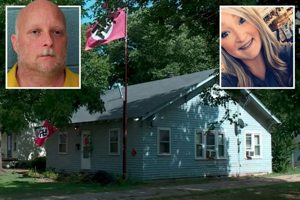 Far-right gunman who shot woman four times with AR-15 after she ripped down his Nazi flag on a dare claims SELF DEFENSE