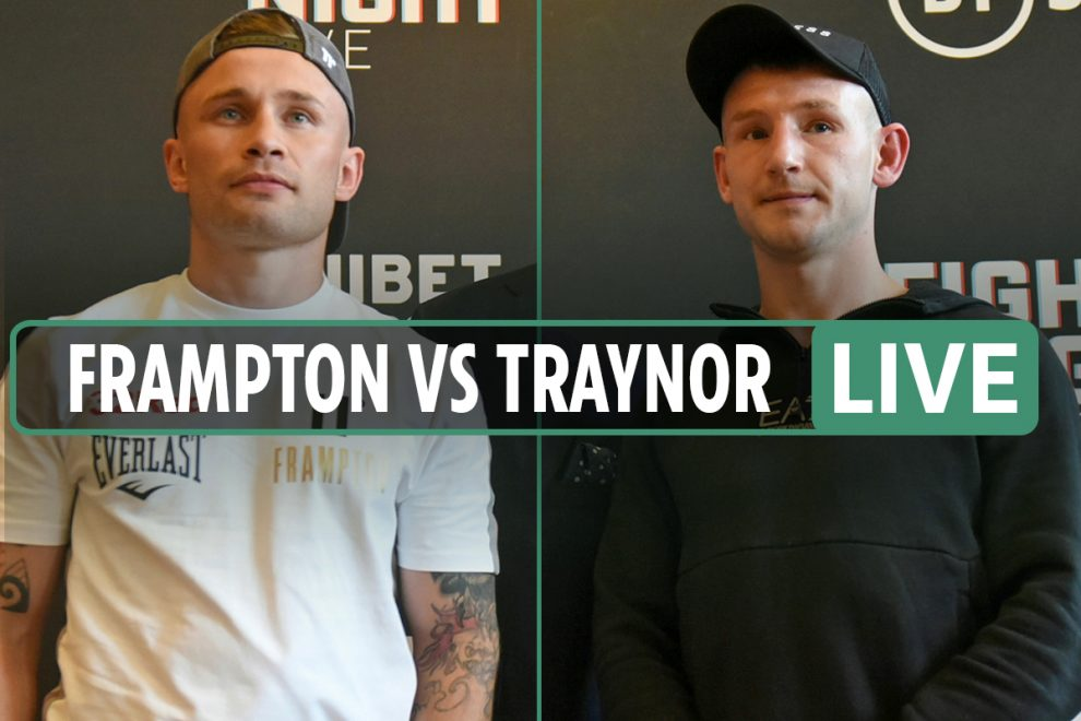 Frampton vs Traynor LIVE RESULTS: Main event UNDERWAY NOW – stream FREE, TV channel, UK start time, undercard