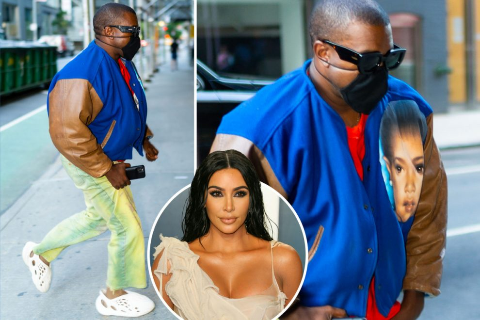 Kanye West lands in NYC 'without' wife Kim Kardashian to 'finish up' his latest album DONDA amid marriage crisis
