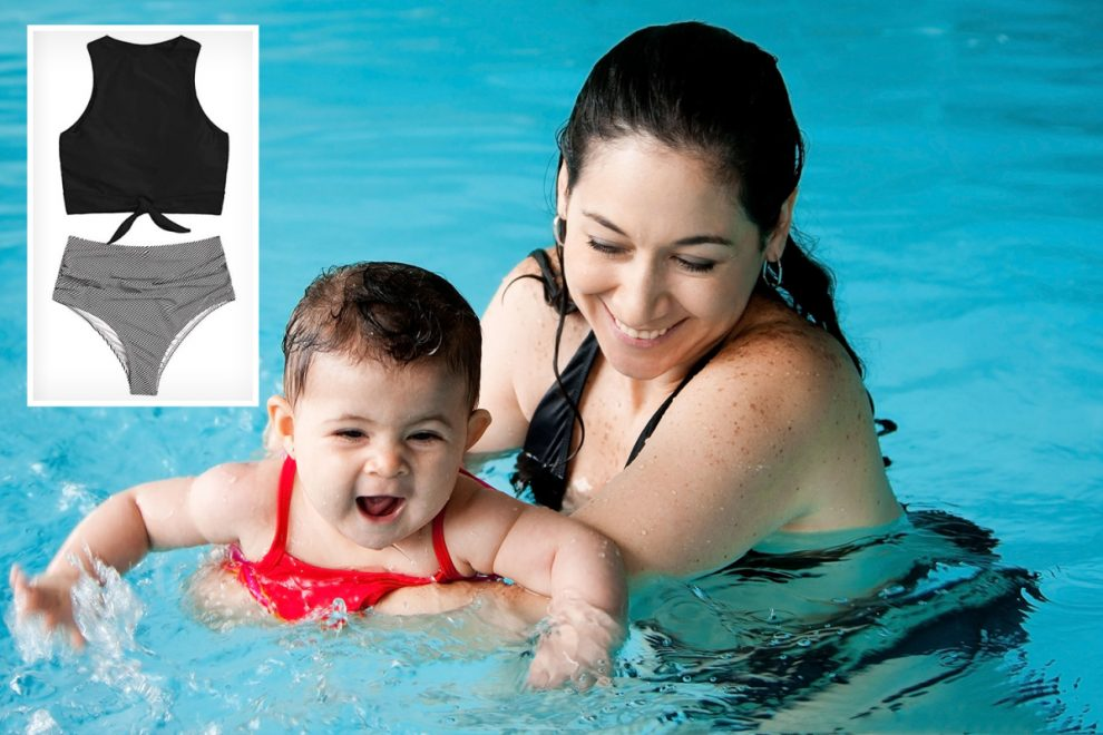 Mum hits back after being shamed for her 'inappropriate' tankini by another woman at baby swim class