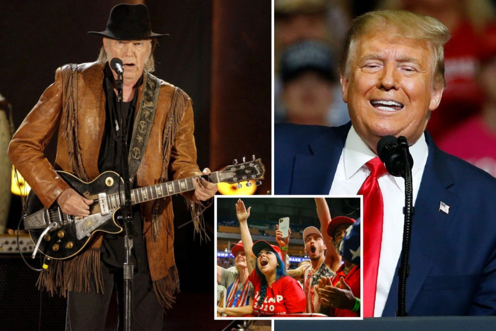 Neil Young SUES President Trump's reelection campaign over use of his songs at rallies