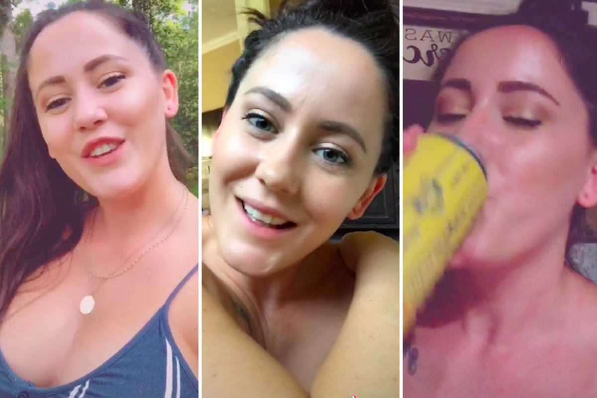 Teen Mom's Jenelle Evans posts bizarre TikTok showing her topless, drinking and 'smoking' in 'The Swamp'