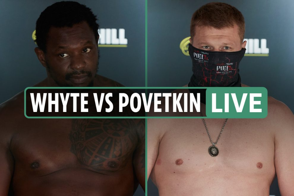 Whyte vs Povetkin LIVE RESULTS: Katie Taylor fighting NEXT ahead of main event – stream, TV channel, latest updates