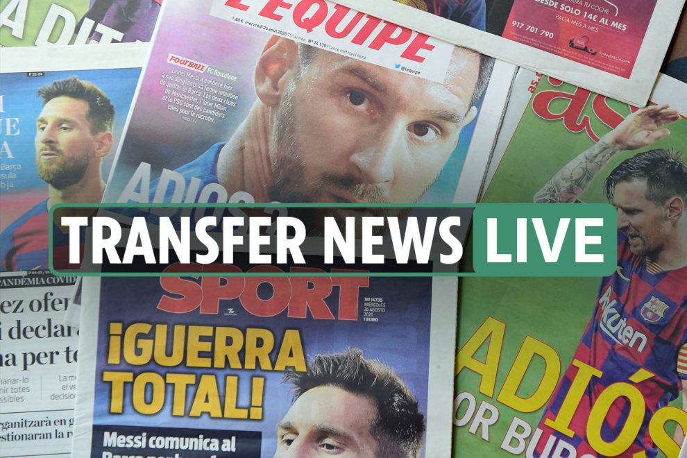 6am Transfer news LIVE: Messi to meet Barcelona on Wednesday, Man City 'offer £450m contract'- latest updates